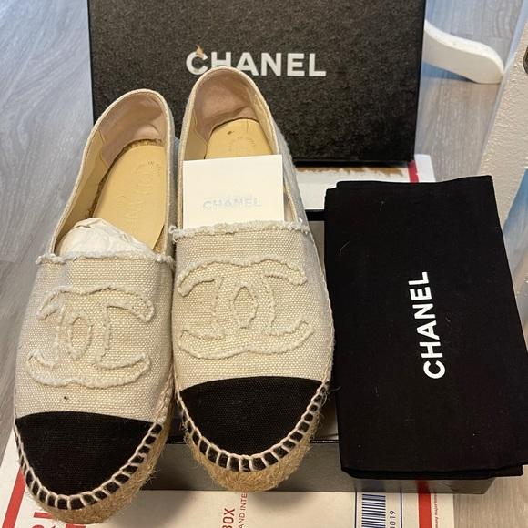Chanel espadrilles size 38 women 8